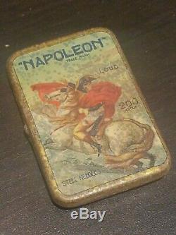 Rare Japanese Gramophone phonograph needle tin napoleon