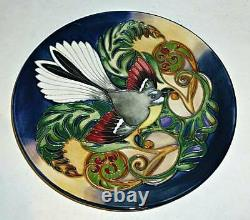 Rare MOORCROFT Plate FANTAIL Philip Gibson New Zealand Collection 2003 Boxed