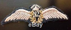 Rare Original WW2 New Zealand Pilots wings 100% Genuine