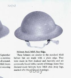 Rare RAW EDGE Mk2 BRODIE HELMET WW2 British TOMMY Made in NEW ZEALAND 1941