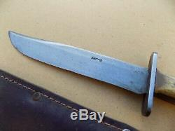 Rare Smiths New Zealand WWII Theater Fighting Knife Stag Bowie