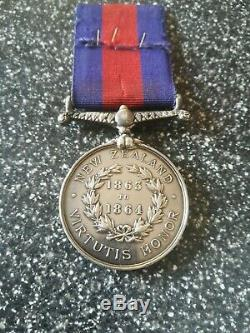 Rare Victorian New Zealand Medal to Bennett Royal Marine Artillery HMS Esk