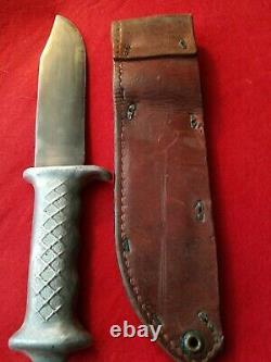Rare WW2 New Zealand Bowie Knife N. Z. CUTLERS CO. AUCKLAND original sheath