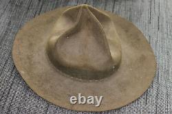 Rare Ww2 New Zealand Made Lemon Squeezer Fur Service Hat
