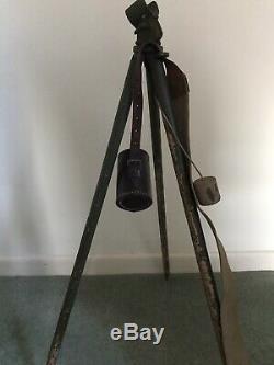 Rare Ww2 Sniping Telescope Tripod New Zealand Made 1942 Army Issue