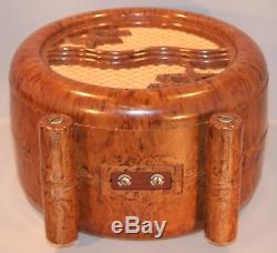 Rare mottled bakelite Philips speaker from New-Zealand