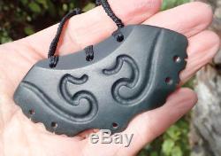 Ross Mccabe New Zealand Arahura Pounamu Jade Museum Quality Maori Breastplate