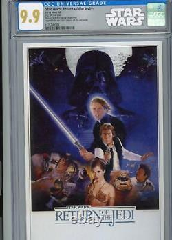 STAR WARS RETURN OF THE JEDI 2018 35g SILVER FOIL $2 CGC 9.9 MINT COLLECTABLE