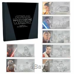STAR WARS VII FORCE AWAKENS The Complete 2019 Set 7x 5g silver notes