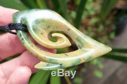 S Gardiner Nz Maori Greenstone Pounamu Nephrite Raukaraka Flower Jade Hei Matau