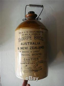 Sharpe Bros Australia & New Zealand Demijohn By Pearsons & Chesterfield 1950's