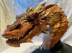 Smaug weta, dragon, bust, fantasy, figurine, lord of the rings, hobbit, Tolkien