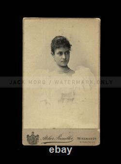 Super Rare Antique Photo of Hawaiian Royalty / Princess Kaiulani of Hawaii 1890s