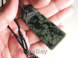 TANGIWAI TOKI ADZE EXCLUSIVE BOWENITE New Zealand Greenstone Maori Jade Pounamu