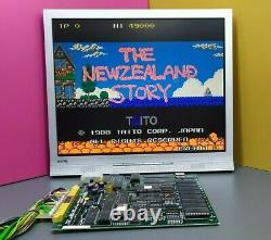 THE NEWZEALAND STORY by TAITO, Arcade PCB, 1988, Made in JAPAN
