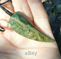 Tainui Nz Maori Greenstone Pounamu Nephrite Flower Jade Tooth Mako Rei Niho