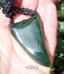Te Kaha New Zealand Arahura Greenstone Pounamu Jade Rei Niho Shark Tooth
