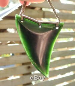 Te Kaha Nz Ivy Green Tangiwai Greenstone Maori Pounamu Rei Niho Shark Tooth
