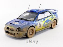 Top Marques Collectibles 1/18 Subaru Impreza S7 555 Wrt Winner New Zealand