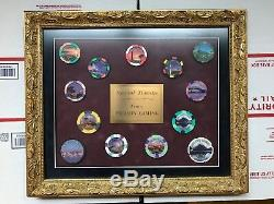 Unique Paulson Framed Sample Set Sky City Casino Auckland New Zealand 13 Chips