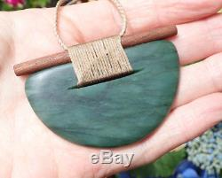 Unique Rhys Hall New Zealand Greenstone Pounamu Jade Scandinesian Breastplate