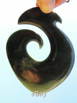 V V BIG ARAHURA JADE Maori Pounamu NEPHRITE Dean Hetherington Greenstn FISH HOOK