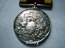 Victorian China Opium War 1842 medal J Burton Ord HMS North Star ent New Zealand