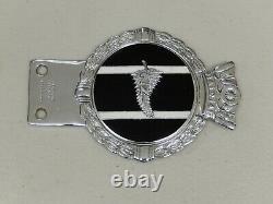 Vintage Chrome J R Gaunt NZ New Zealand Car Badge Auto Emblem