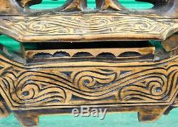 Vintage Hand Carved Style of Maori Box South Pacific Polynesian Oceanian Art
