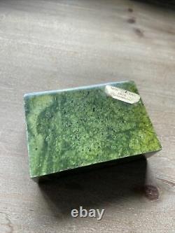 Vintage New Zealand Greenstone Maori Pounamu Nephrite Jade Paper Weight Stone