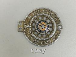 Vintage New Zealand RAC Associate Wanganui Enamel Centre Car Badge Auto Emblem