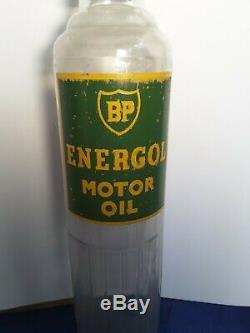 Vintage original BP Energol motor Oil Bottle (possibly New Zealand)