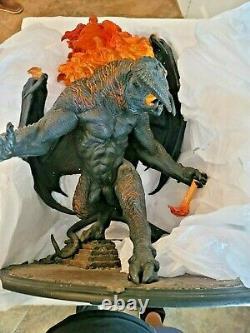 WETA BALROG DEMON FLAME Polystone STATUE LOTR LORD OF THE RINGS SIDESHOW DIORAMA