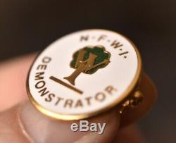 WI Vintage Federation Of Womens Institutes Demonstrator Pin badge W. I NFWI
