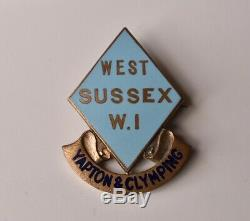 WI Vintage Womens Institutes West Sussex Yapton & Clymping Pin badge W. I WW2
