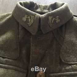 WW1 British 1907 SD Tunic 3 Bn. Auckland Infantry. New Zealand (NZR), V. Rare