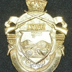 WW1 New Zealand Expeditionary Force 9 carat fob Ironsides Studholme Willowbridge