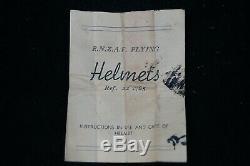 WW2 New Zealand RNZAF Type B Pilots Helmet Gosport Tubes Named 1940 Dated RARE