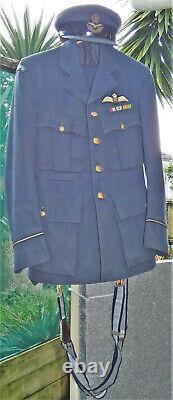 WW2 Royal NEW ZEALAND Air Force RNZAF PILOT Officer's UNIFORM Tunic Trousers HAT