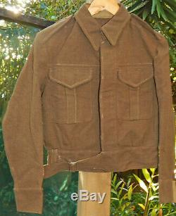 WW2 era NEW ZEALAND Army Battledress Jacket 1941 Date NICE Cond. SIZE 6 = Small