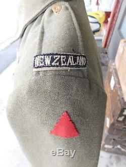 WWII New Zealand Battledress Jacket dated 1942. Vet Acquired
