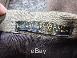 WWII New Zealand Officers Named Full Uniform Set Intelligence