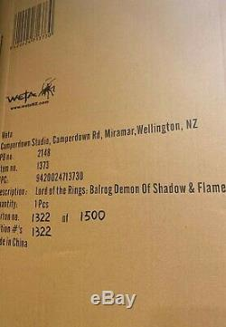Weta LOTR Lord of The Rings Balrog Demon of Shadow & Flame Statue