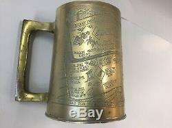 Ww2 Brass Tankard Nz Onward North Africa Timeline 1940-45 Kiwi New Zealand