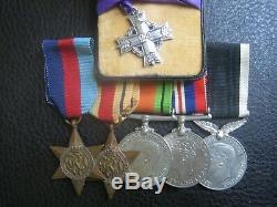 Ww2 New Zealand Memorial Cross Medal Group Kia Battle Of Sidi Rezegh 1941