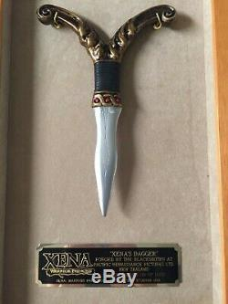 Xena Warrior Princess Limited Edition Breast Dagger In Display Box, With Coa