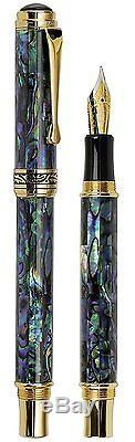 Xezo Natural New Zealand Paua Sea Shell Fountain Pen. 851275007061