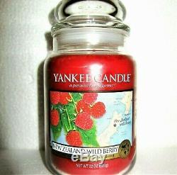 Yankee Candle Retired World Journeys NEW ZEALAND WILD BERRY Large 22 oz RARE